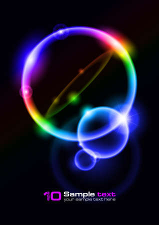 Abstract glowing background. Bubbles. For your design. Vector