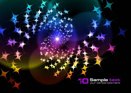 Abstract glowing background. For your design. Stock Vector - 7626201