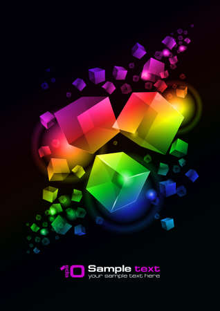 Abstract glowing background. For your design.  Vector