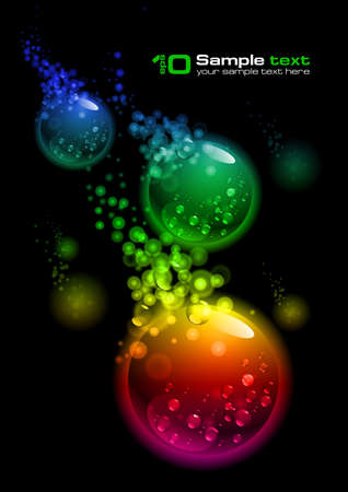 Abstract glowing background. For your design. Bubbles. Stock Vector - 7626190