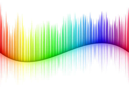 geluid: Kleurrijk Sound golfvorm op wit