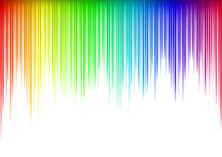waveform: Colorful Sound waveform   on white