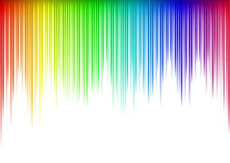 Colorful Sound waveform   on white Фото со стока - 7883112