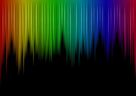 Colorful Sound waveform  on black Stock Vector - 7883110