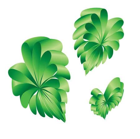 alert ribbon: illustration of green ribbon in Heart Shape