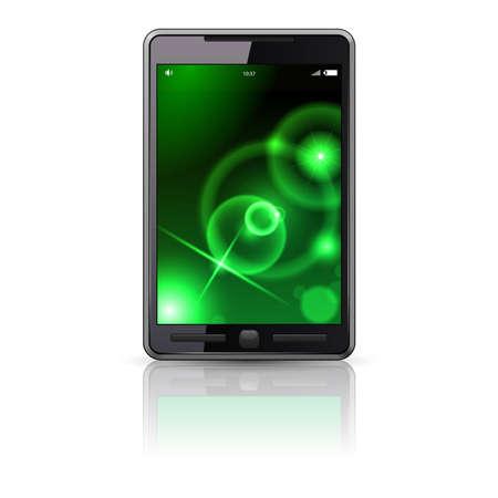 Mobile phone, illustration on white background Stock Vector - 8251092