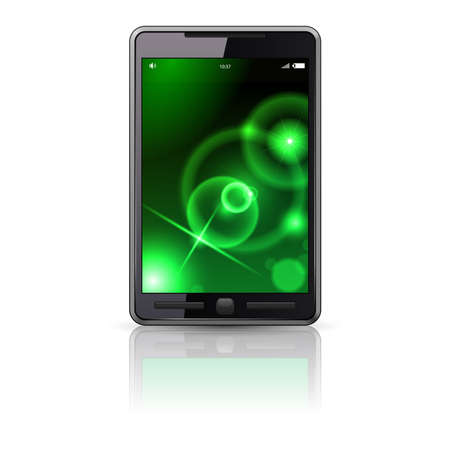 Mobile phone, illustration on white background Vector