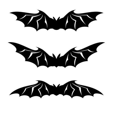 Bats illustration collection -  on white background Vector