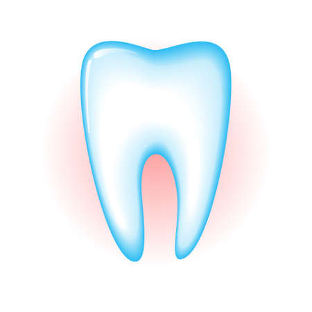 carious: Sick tooth isolated on a white background. illustration Illustration