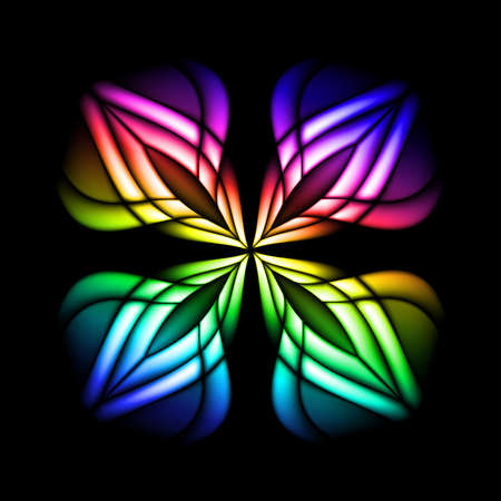 Abstract stain glass flower pattern.  illustration #3 Vector