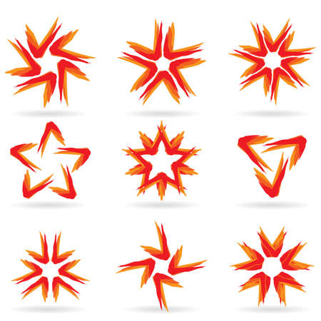 Set of different stars icons for your design. White releases #15. Stock Vector - 8251072