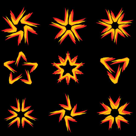 Set of different stars icons for your design. Black edition #9 Stock Vector - 8251045