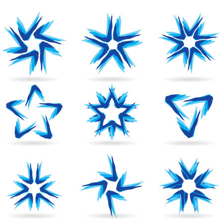 Set of different stars icons for your design. White releases #13. Stock Vector - 8251075