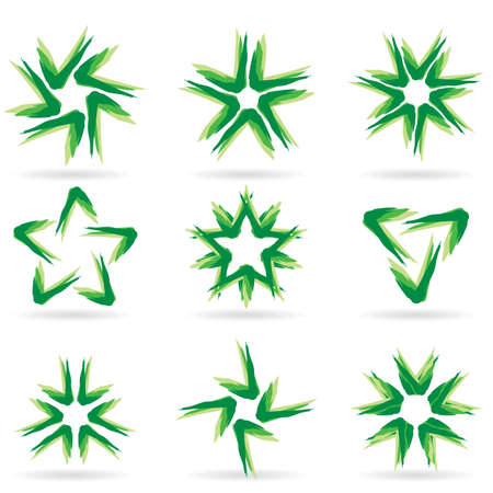 Set of different stars icons for your design. White releases #14. Stock Vector - 8251076