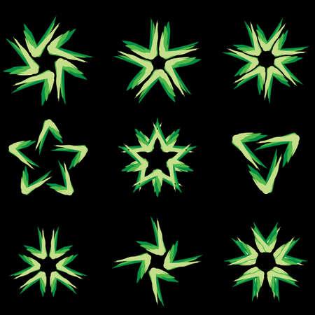 Set of different stars icons for your design. Black edition #8 Stock Vector - 8251048