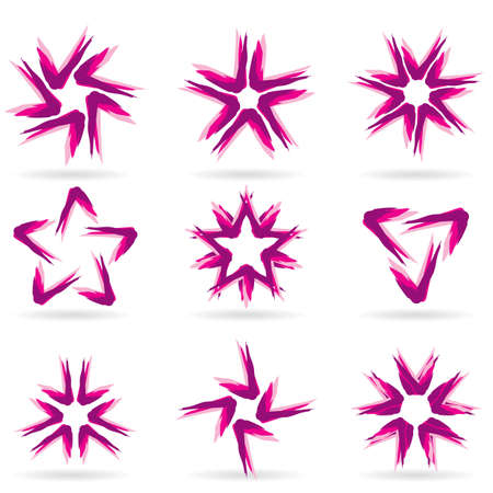 Set of different stars icons for your design. White releases #12. Stock Vector - 8251073