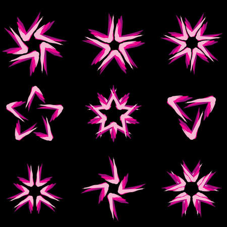 Set of different stars icons for your design. Black edition #7 Stock Vector - 8251047