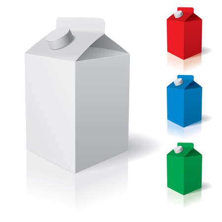 Blank carton isolated over a white background. illustration Vector