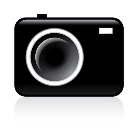 Photo camera icon - illustration on white background Vector