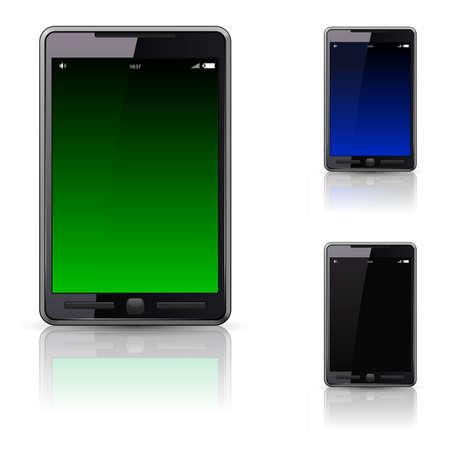 Mobile phone set,   illustration on white background Stock Vector - 8402075