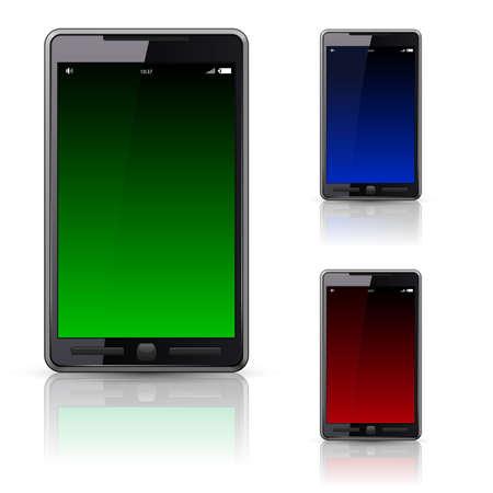Mobile phone set,illustration on white background Vector