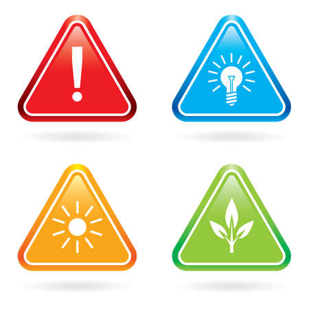 Triangle signs or icons Stock Vector - 8485689