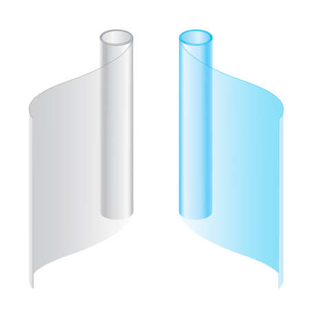 recyclable: Convolute in a roll packages Illustration