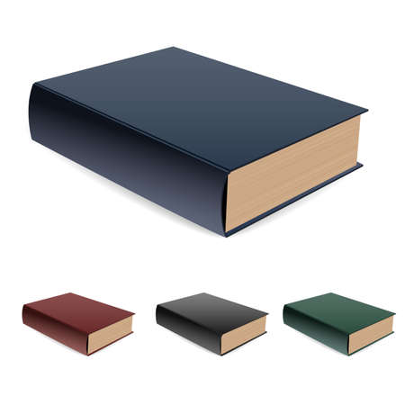 Book lying a pile. illustration on white Vector