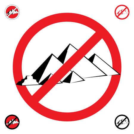 Pyramids symbol. Stop.  illustration on white background Vector
