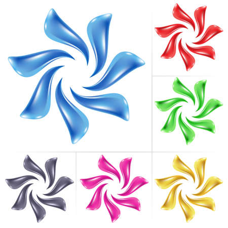 Flower icon. Vector illustration set on white background Stock Vector - 8889955