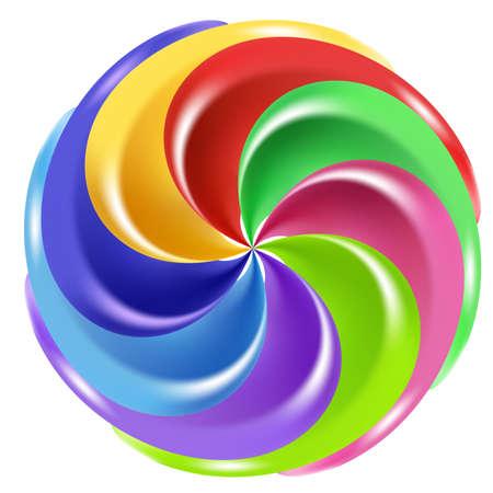 Rainbow Peppermint Candy de Noël, graphique, sur un fond blanc Banque d'images - 8889961