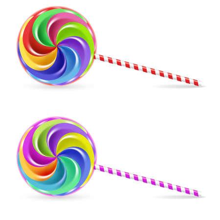 Paleta de arco iris de espiral - aislado en fondo blanco