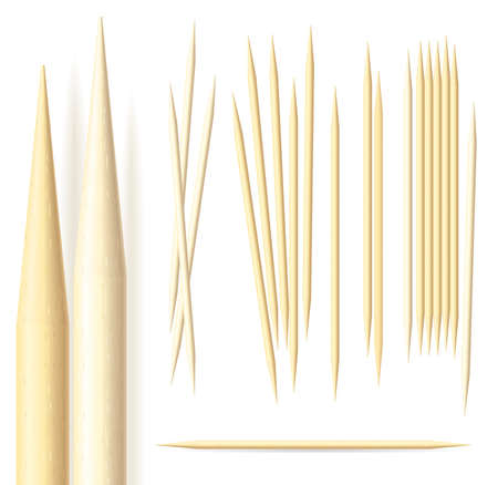 toothpick: Toothpicks illustration on a white background
