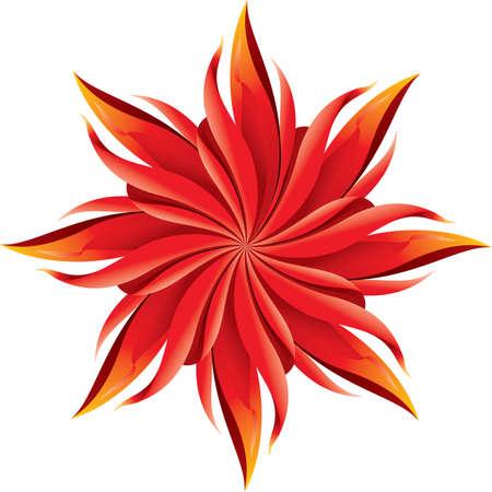 Naadloze bloemmotief. Red design geïsoleerd op wit