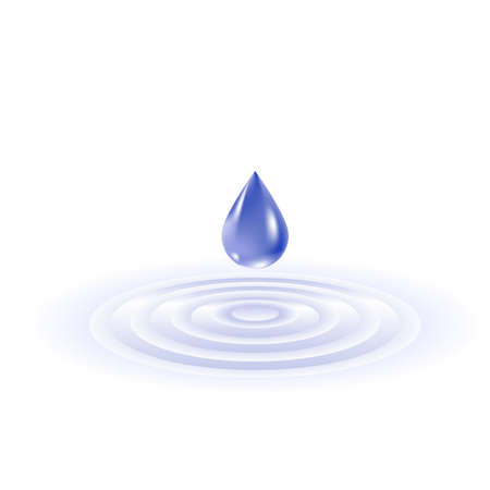 Water drop falling. Illustration on white background Stock Vector - 9081123