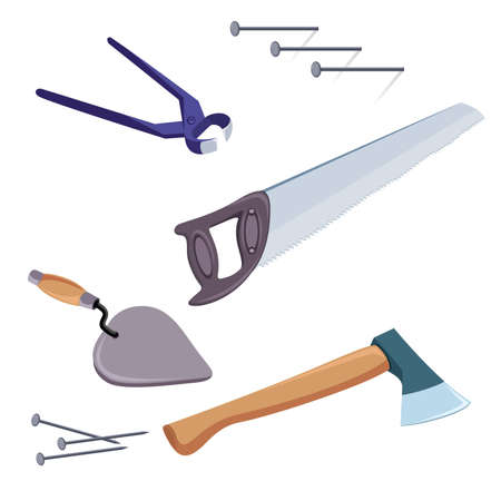darby: A selection of common tools used for construction and repair.