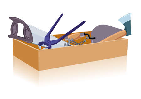darby: Toolbox. Illustration isolated on white background for design