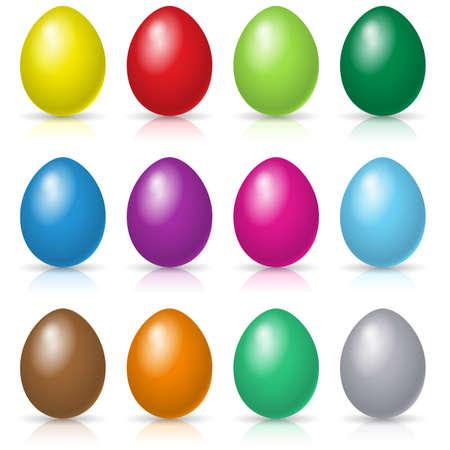 Easter eggs set. Illustration on white background Vector