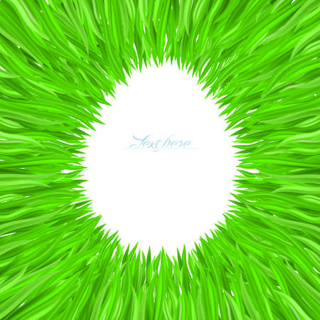 grass line: Illustration of grass frame. Design for Easter.
