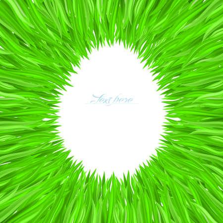 Illustration of grass frame. Design for Easter. Stock Vector - 9231570