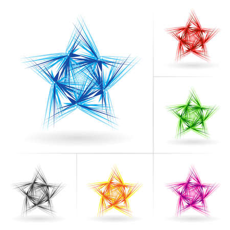 Set #1 of beautiful stars icons for your design. Stock Vector - 9231551