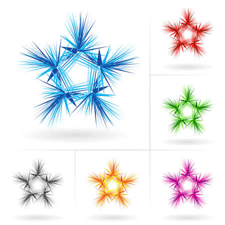 Set #4 of beautiful stars icons for your design. Stock Vector - 9231556