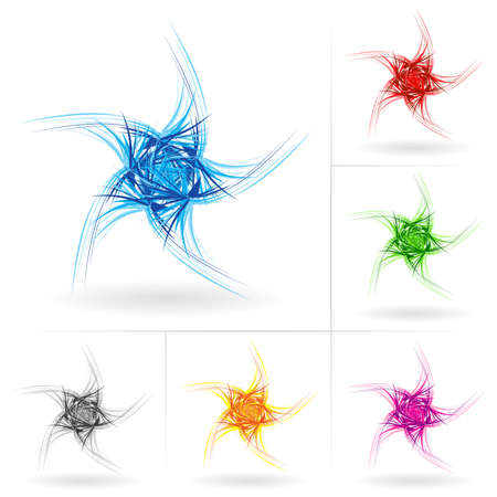 Set #7 of beautiful stars icons for your design. Stock Vector - 9231559