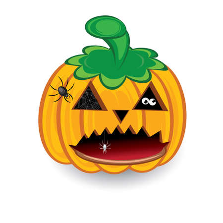 Halloween pumpkin isolated on a white background for design Vector