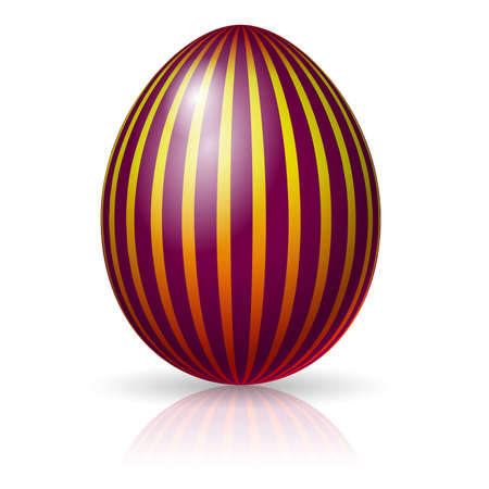 Single easter egg.  Wasp. Vector illlustration on white Stock Vector - 9292087