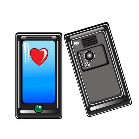 Mobile smart phone. Illustration on white background Stock Vector - 9323587