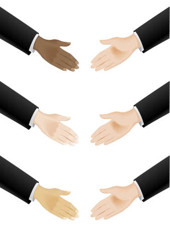 Business hand shaking. Illustration on white background