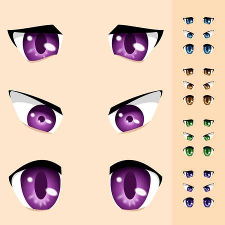 Conjunto de ojos de animales. Ilustración de diseño