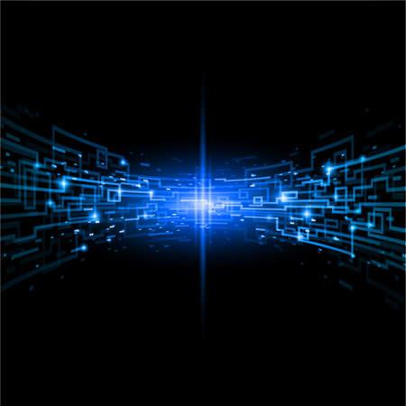 digital wave: Concepto de Internet, la comunicaci�n, el origen de estilo de tecnolog�a. Ilustraci�n de dise�o