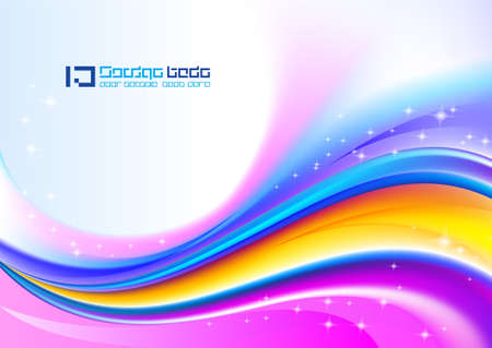 arcoiris: Fondo abstracto ondulada. Versi�n White de tarjeta de felicitaci�n.